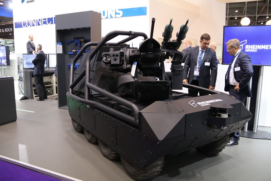 Multi_Mission_Unmanned_Ground_Vehicle_Rheinmetall_DSEI_2017_defense_exhibition_London_UK_925_001.jpg