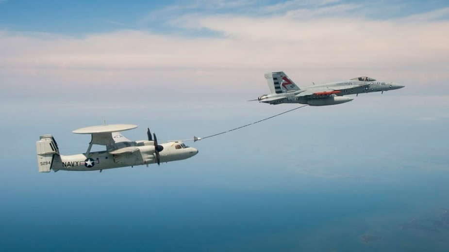 US_Navy_conducts_first_fleet_aerial_refueling_dry-plug_certification_between_E-2D_Advanced_Hawkeye_and_FA-18F_Super_Hornet.jpg