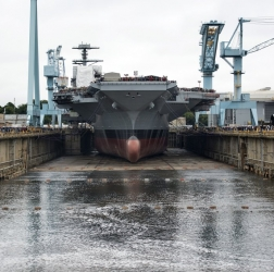 Gerald R. Ford (CVN-78), Flooding the Dry Dock, 11 October 2013